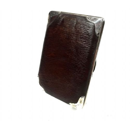 Victorian Leather & Silver Wallet / Purse / London 1898 / Antique Fashion